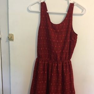 H&M Red lovely dress with bow on the back